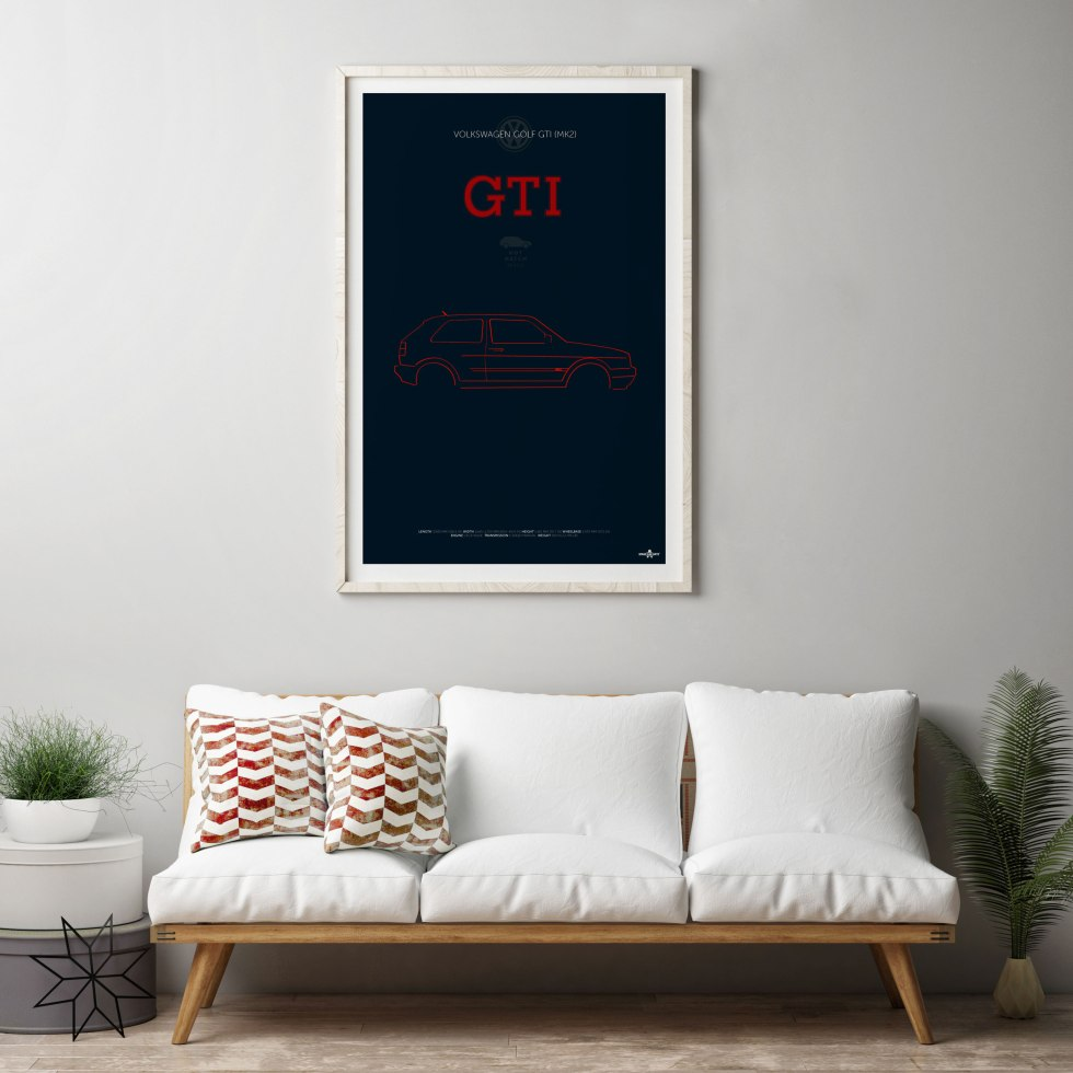 VW Golf GTI MK2 Poster