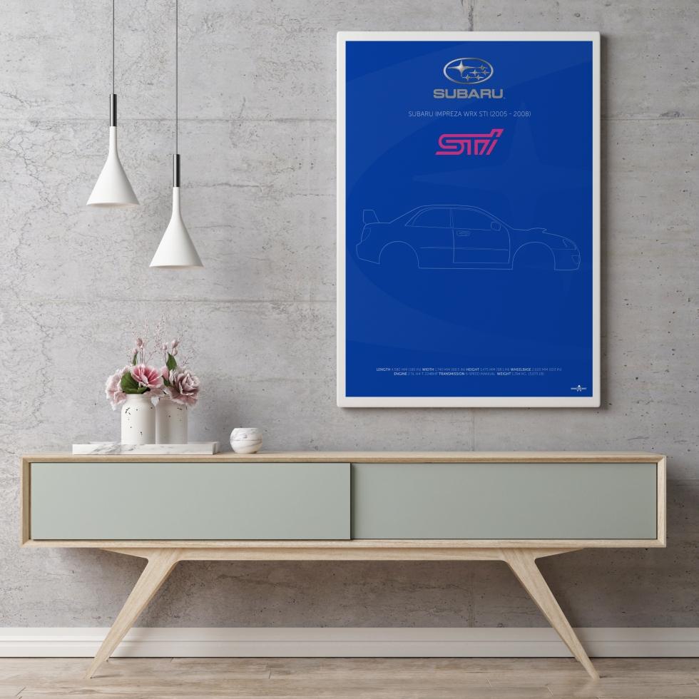Suburu-Impreza WRX STi Poster