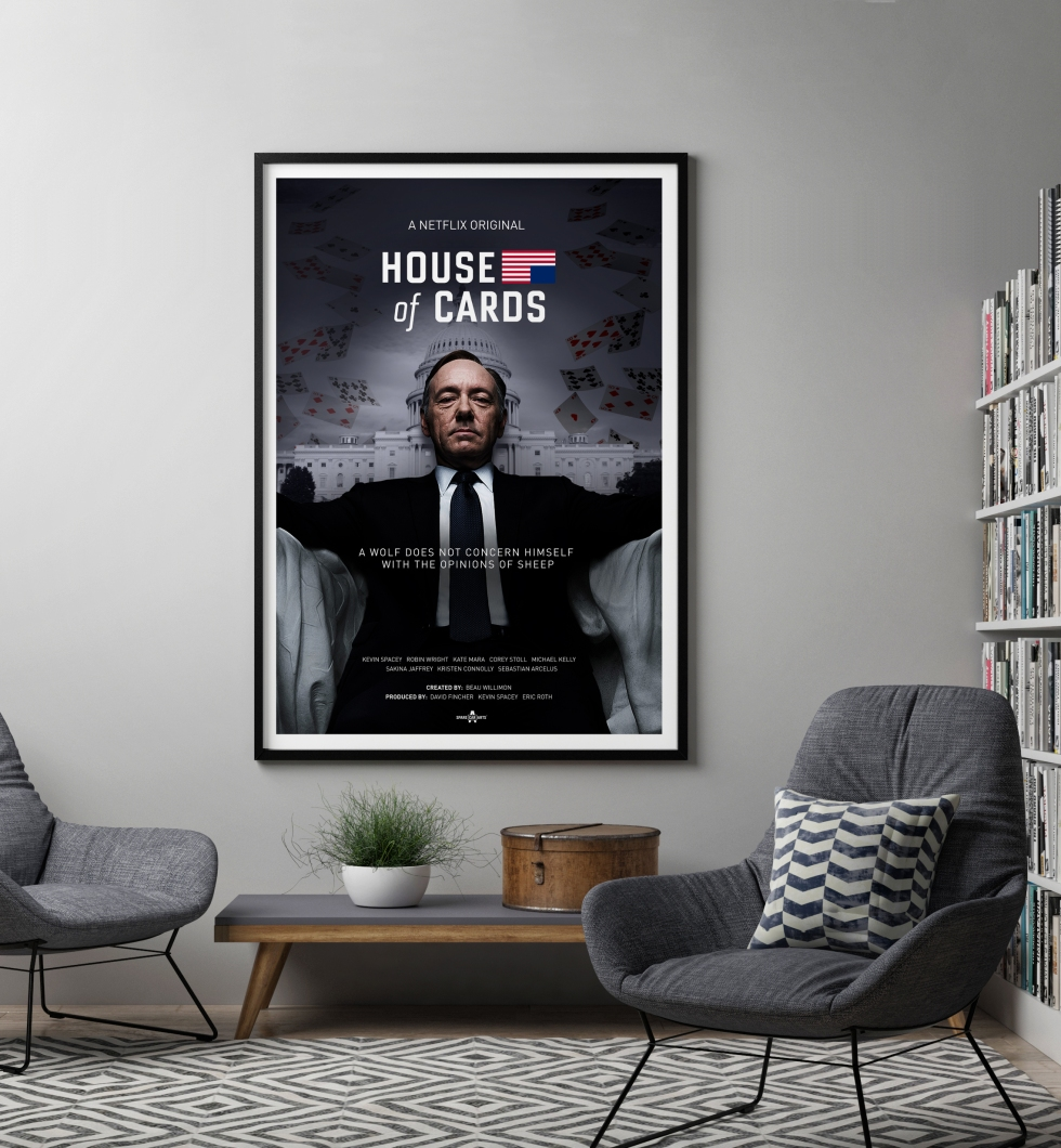 House of Cards Poster Mockup