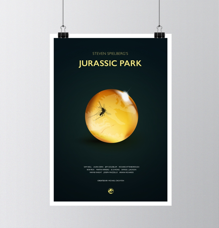 Jurassic-Park-Movie-Poster - Spare Car Arts