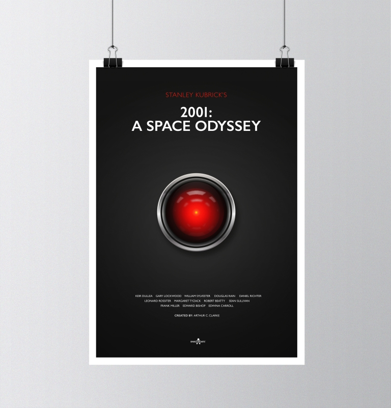 2001 A Space Odyessy Poster Design